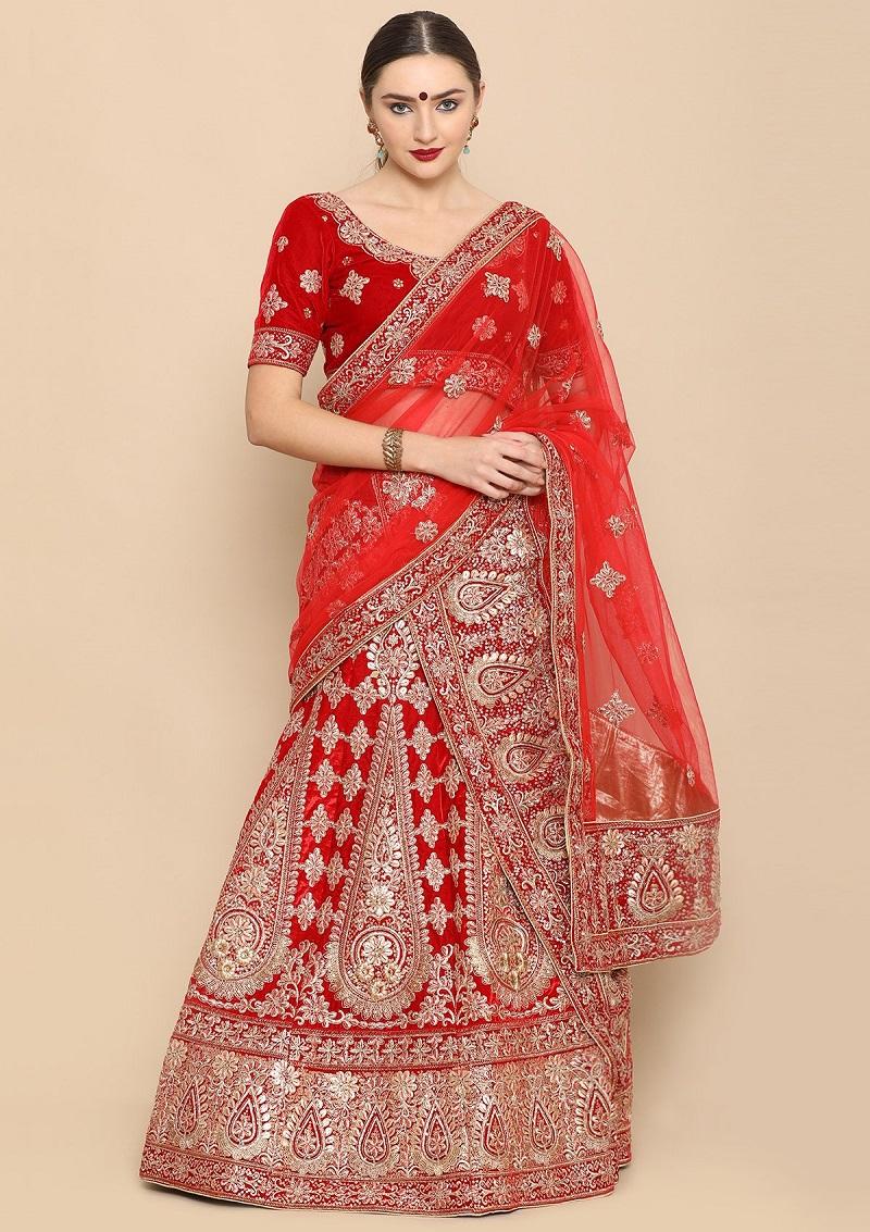 Ravishing Red Gota Patti Lehenga