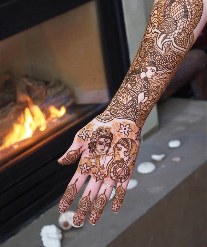 Religious Mehendi designs