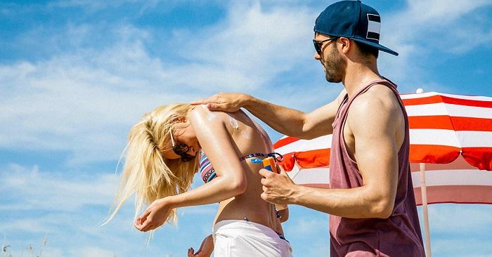 sunscreen on honeymoons