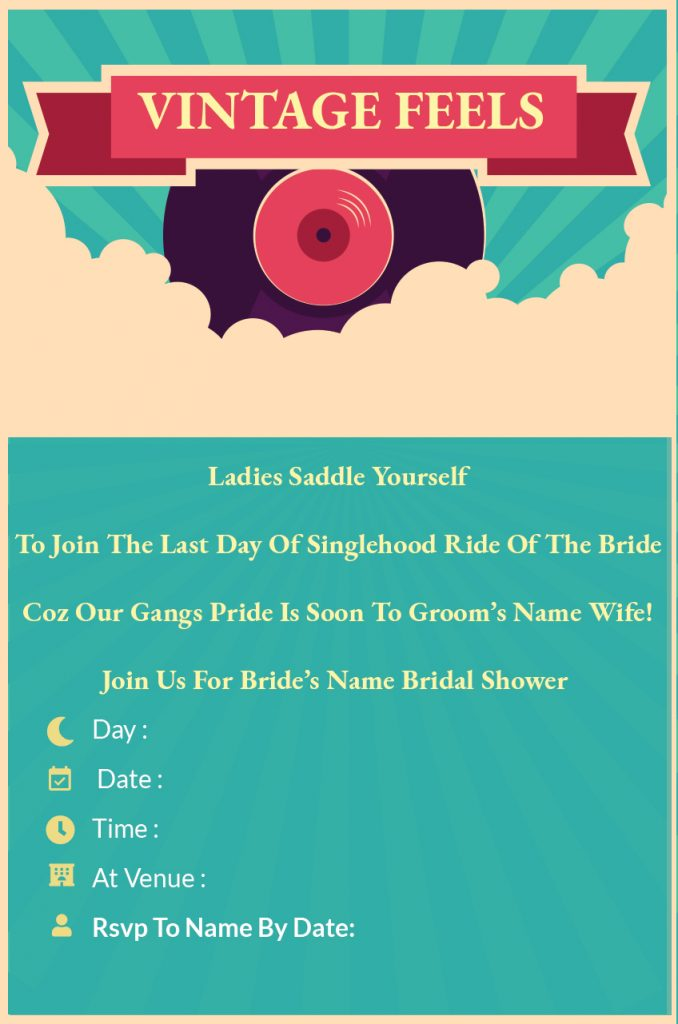 Vintage Feels - Bachelorette Party invitation template