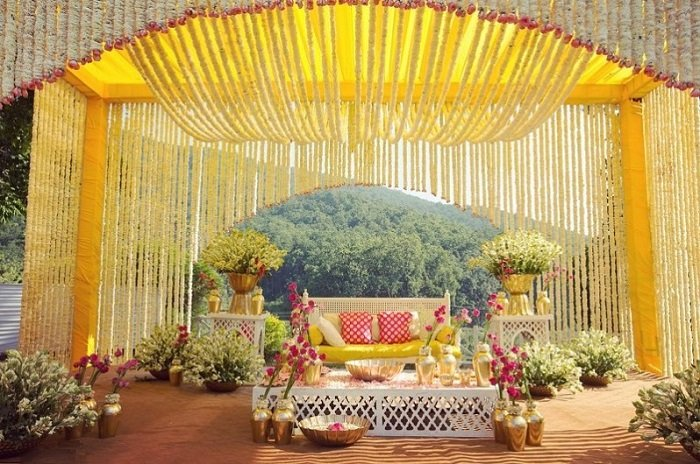 haldi function decor ideas