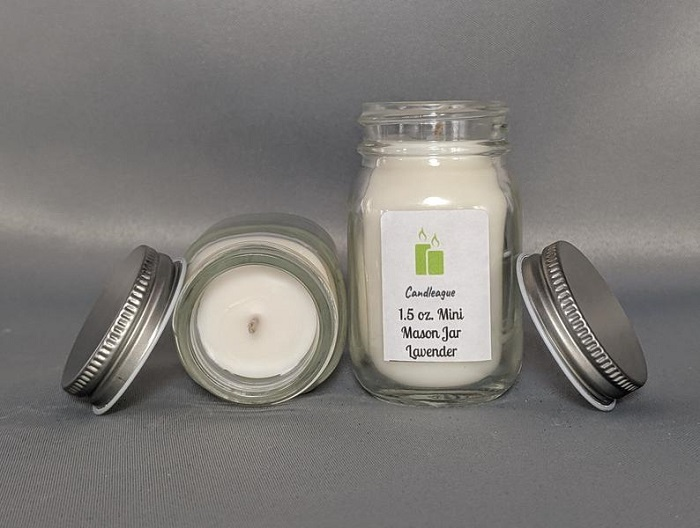 scented candle for mehandi favors