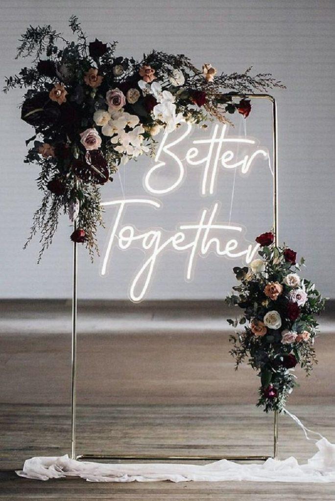 wedding decor ideas with LED