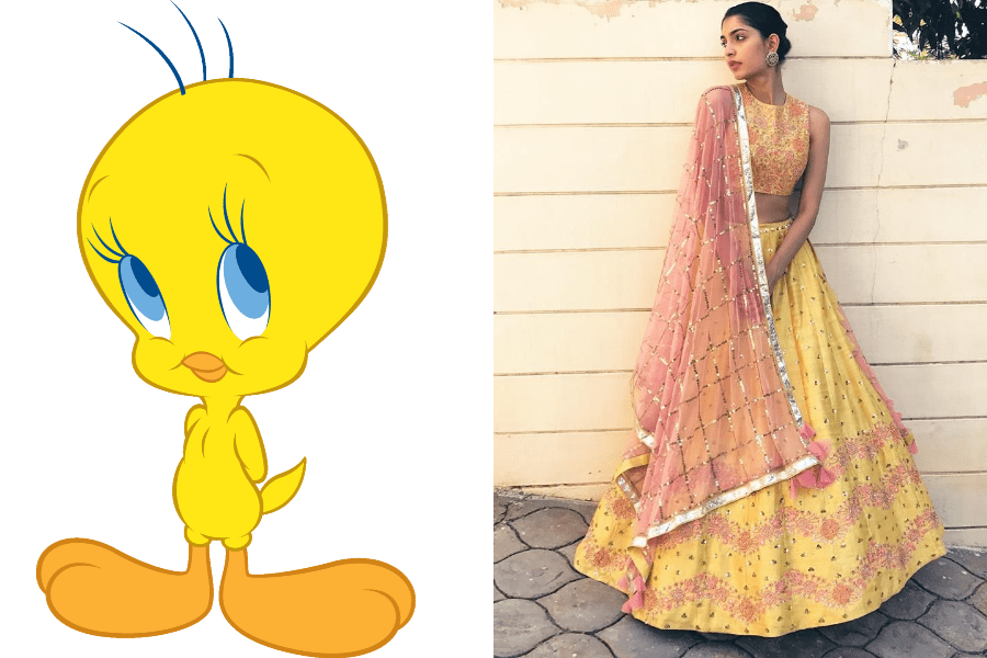 Tweety As The Chirpy Sister Of The Dulhan
