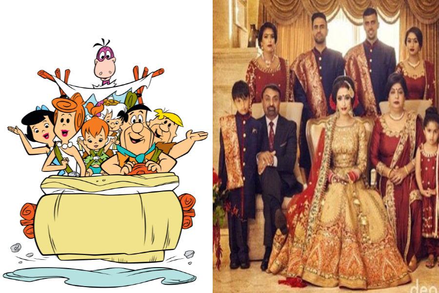 Flintstones As The Bride's Family