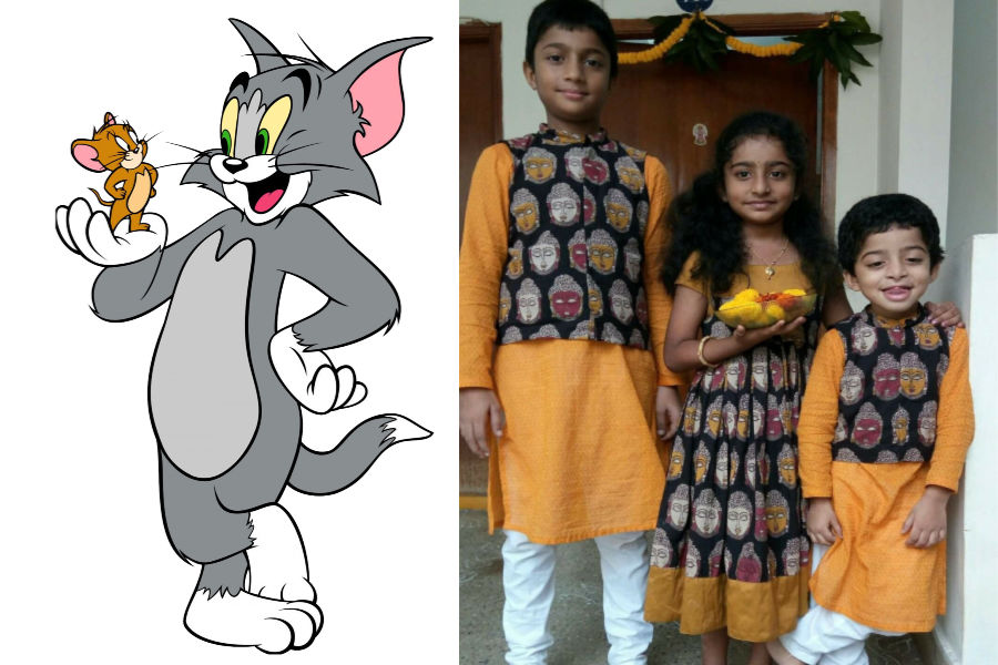 Tom And Jerry As The Toddler Brother-Sister Duo