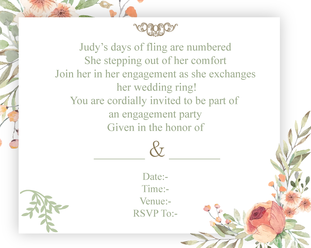 51 Amusing Engagement Invitation Wordings That Would Make You To Laugh