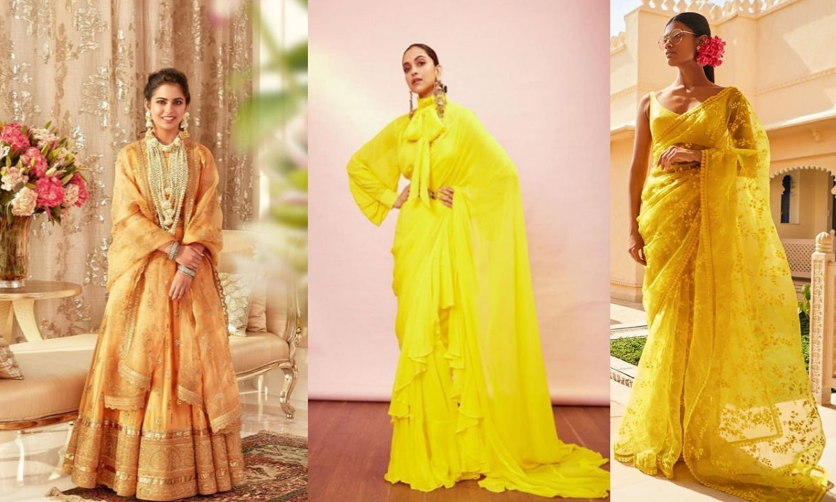 Top #8 Beautiful Haldi Dresses By The Best Designer Sabyasachi!