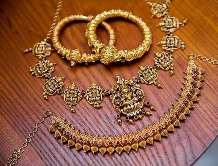 bridal temple jewelry necklace