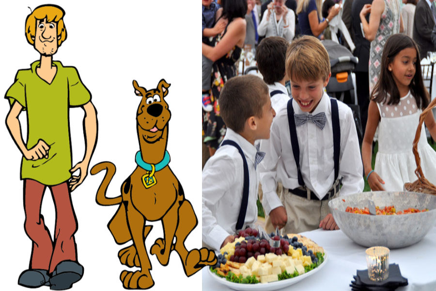 Scooby Doo and Shaggy As The Hungry Glutton Kids