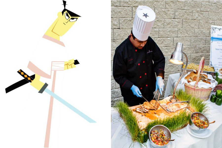 Samurai Jack As The Multitasking Wedding Caterer