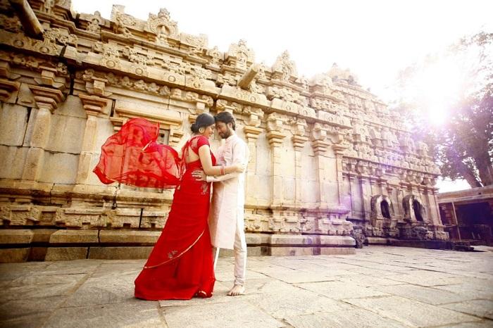 Bhoga Nandeeshwara Temple pre wedding photoshoot