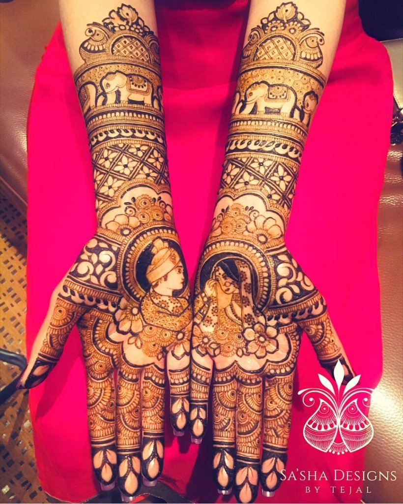 Bride and Groom Romantic Moment In Between Of Mirror Mehendi Design