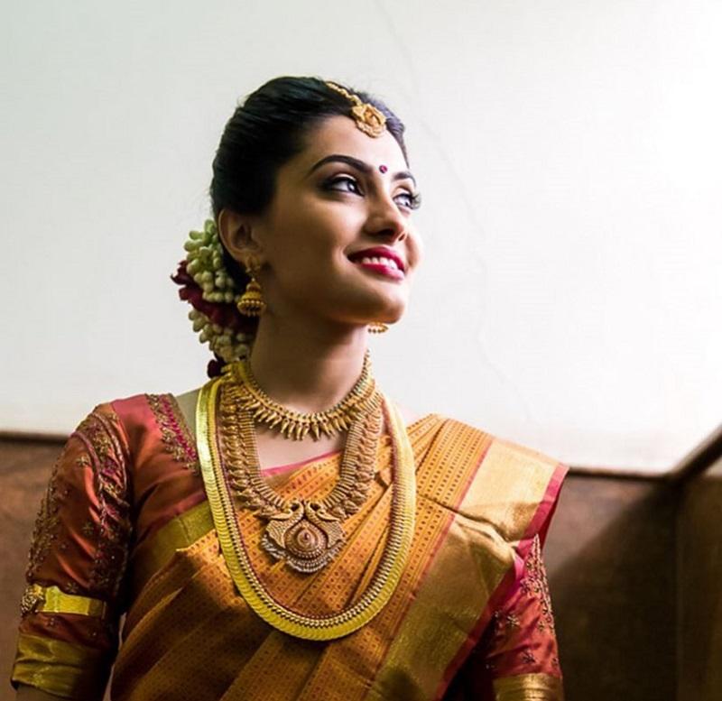 Detailed Kasu Mala Necklace Bride