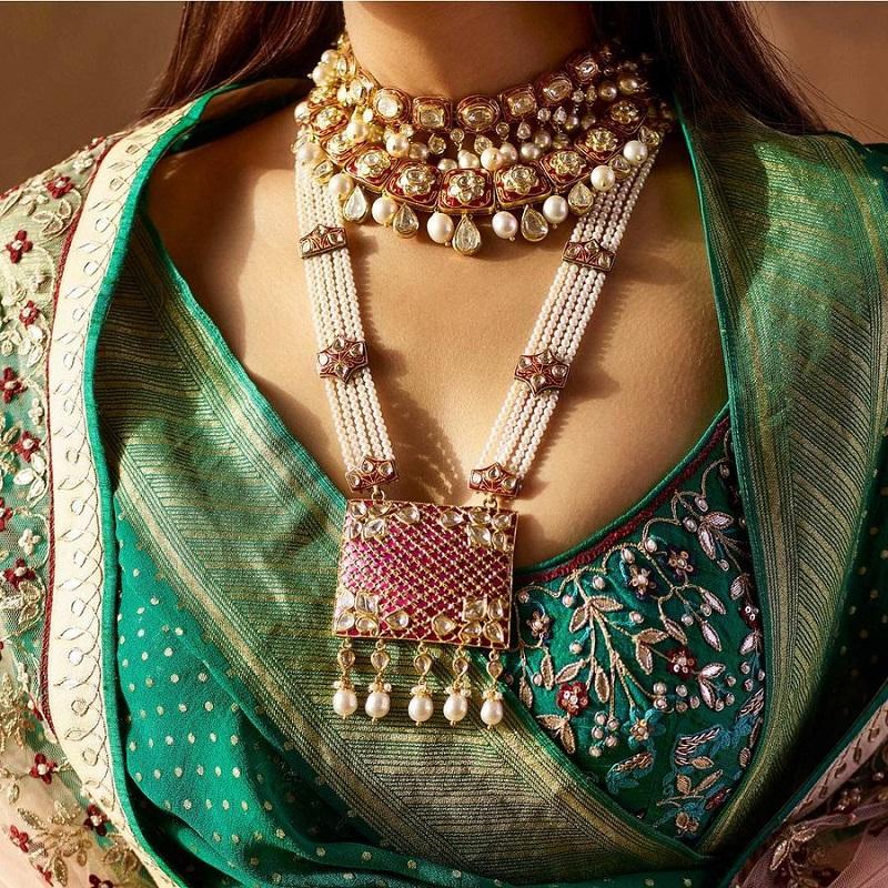Elegant Meenakari Necklace