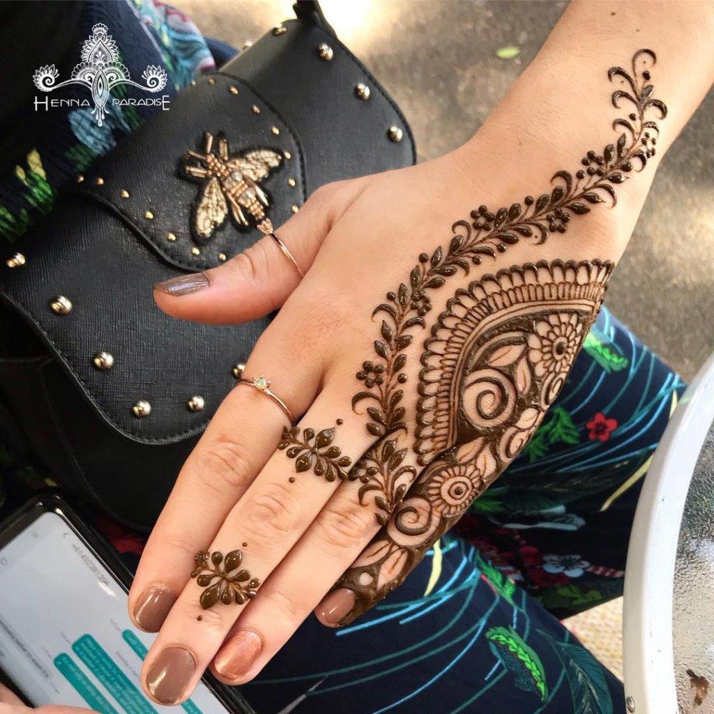 Elegant Ring Mehendi Jewelry Mehendi Design