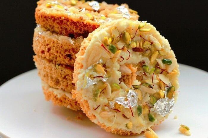 Ghevar Indian Sweet dish