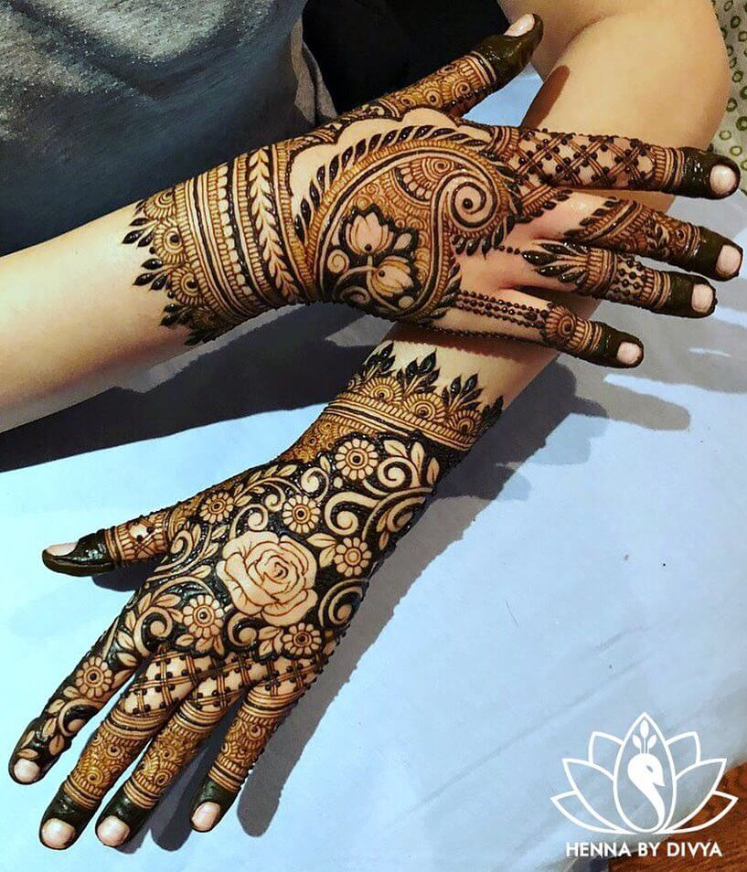 Highlighted Bold Real Creeper Mehendi Designs