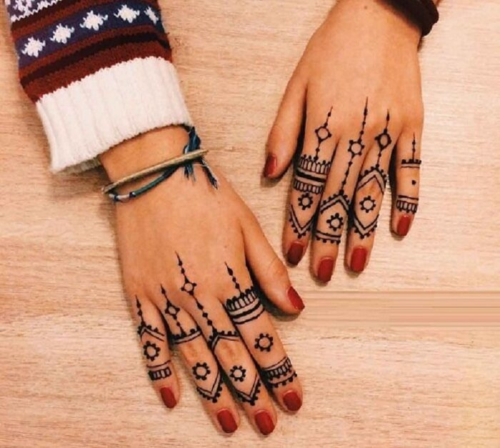 tribal patterns for fingers