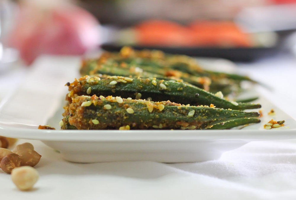 Stuffed Okra or Bharela Bhinda