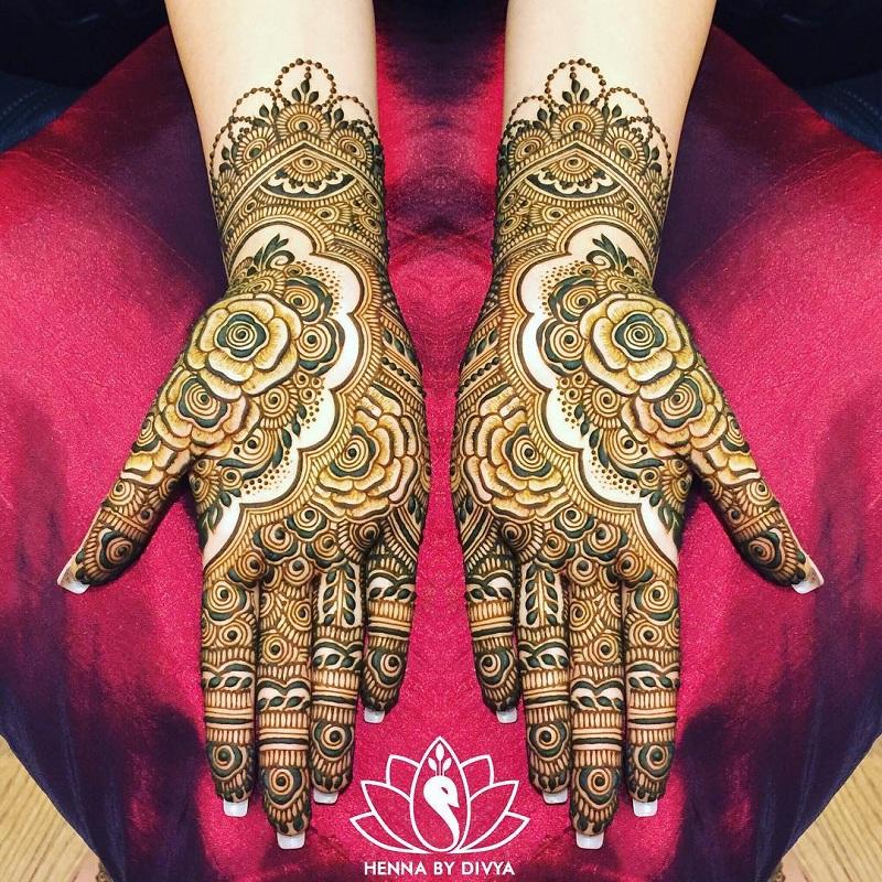 Batik Rose Mehendi Design