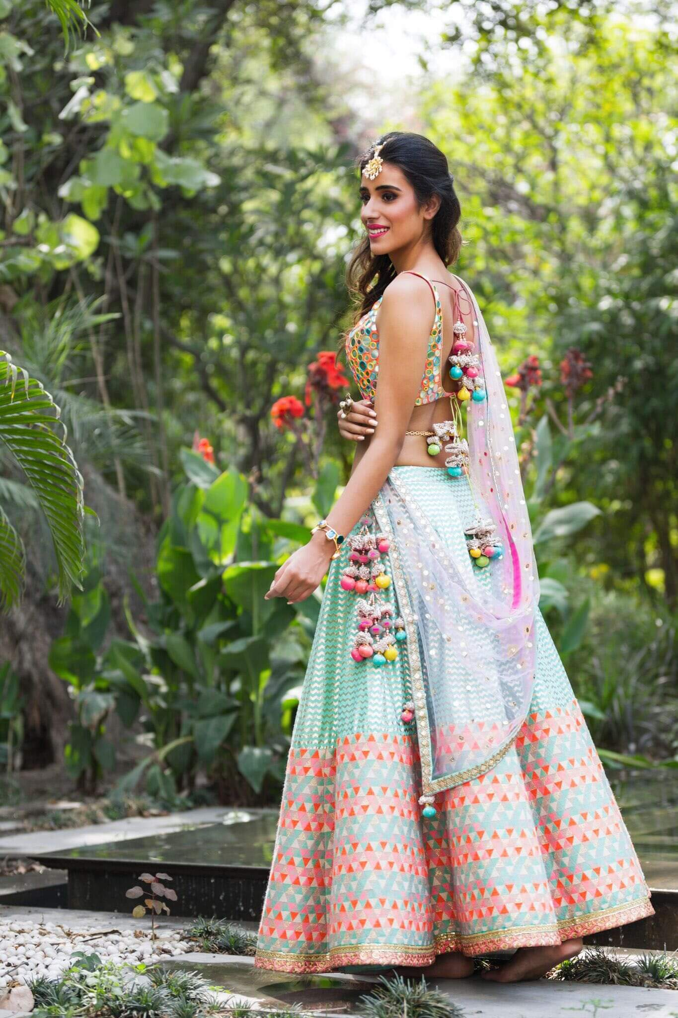 #41 Colorful And Beautiful Latkan For Wedding Lehenga!
