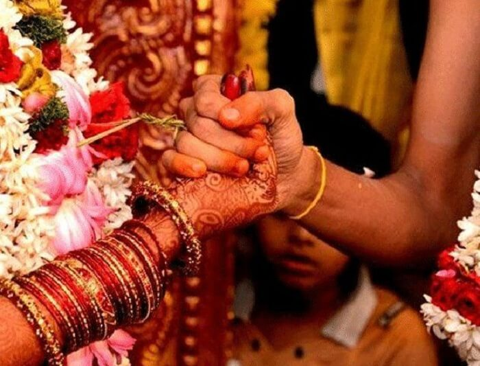 finger finding traditional Indian wedding game