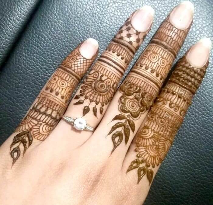 Great Finger Mehndi Designs Trending In The Year 2020