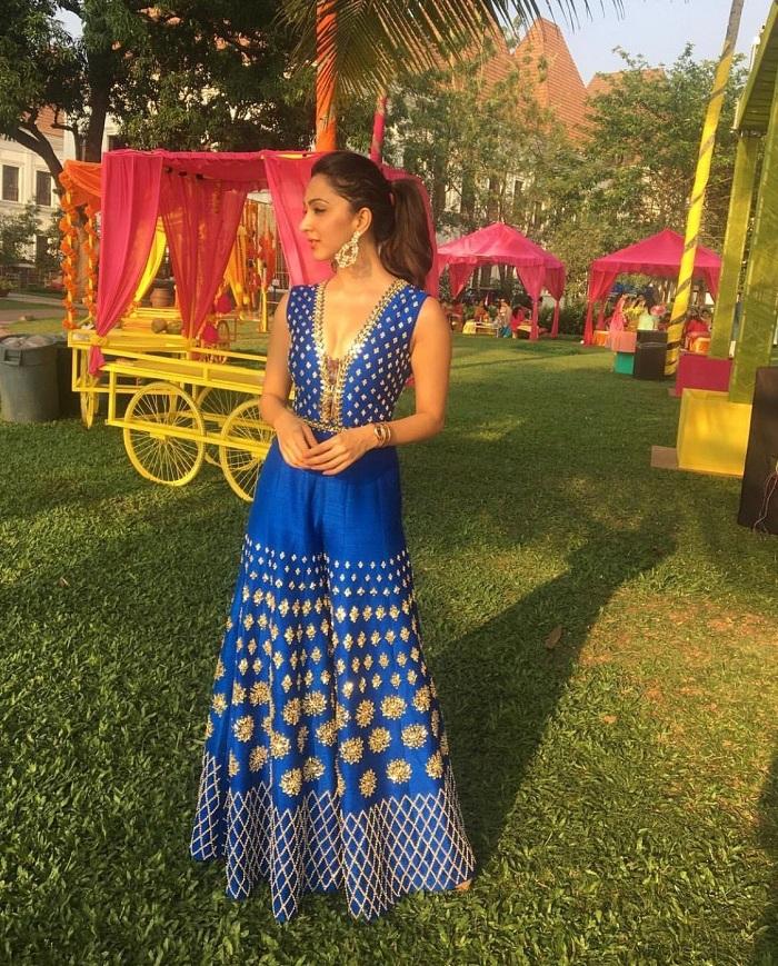 printed jumpsuit mehndi dresses