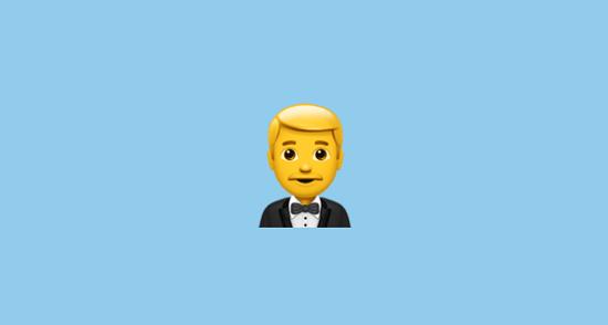 man in tuxedo emoji