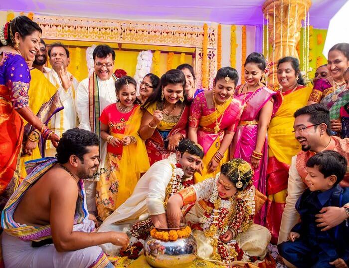 okhli south Indian wedding traditional game