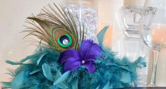 peacock decor for wedding