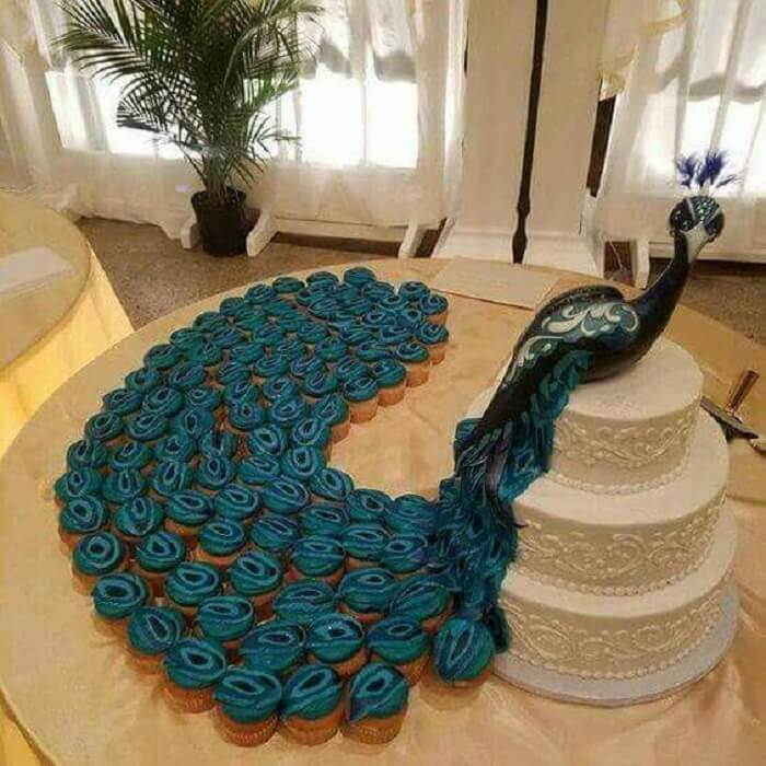 peacock cake ideas