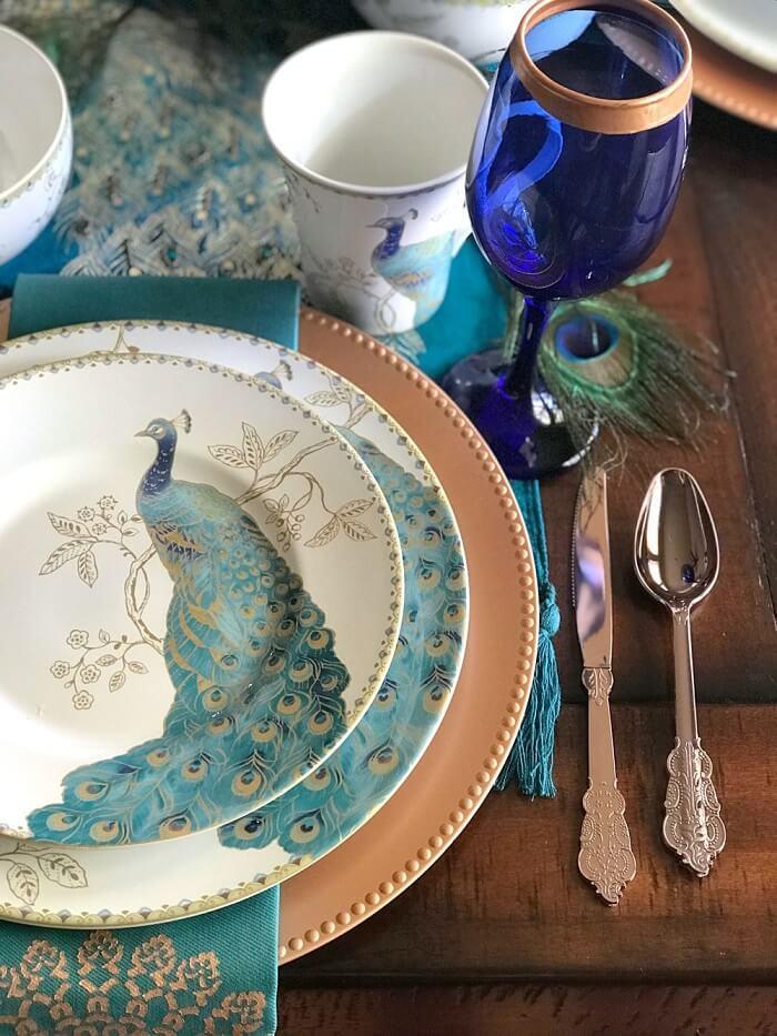 peacock wedding decor ideas