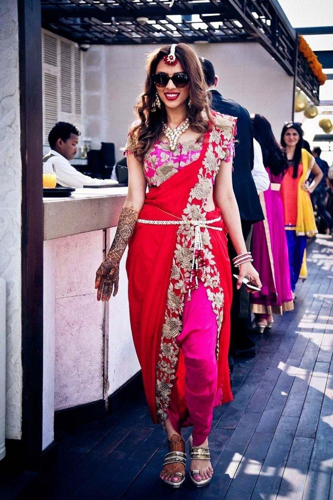 drapped dupatta for mehndi dresses