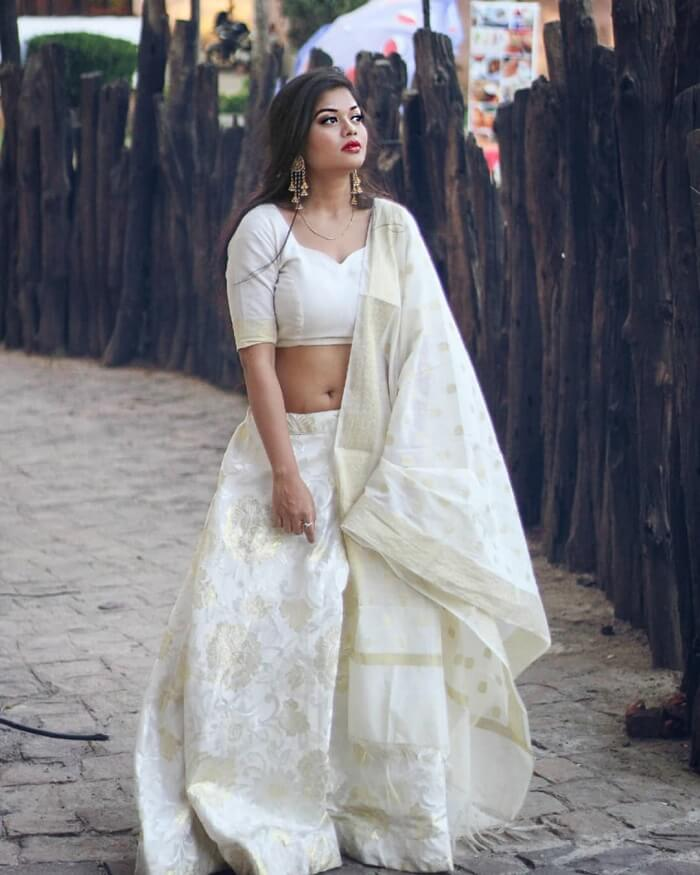 Simple South Indian Cotton Lehenga
