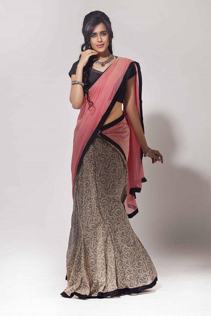 skirt saree drape