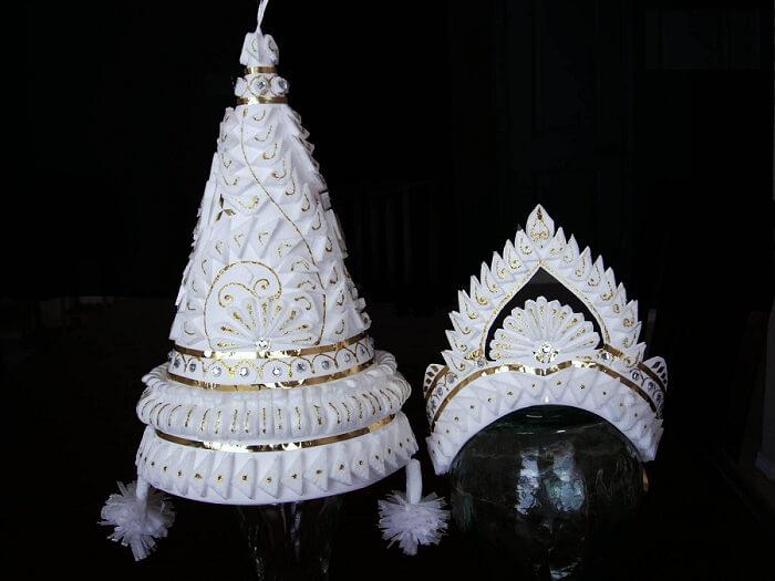topor and mukut traditional bengali wedding game