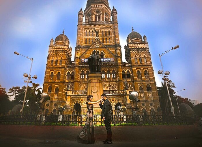 Victoria terminus pre wedding photoshoot