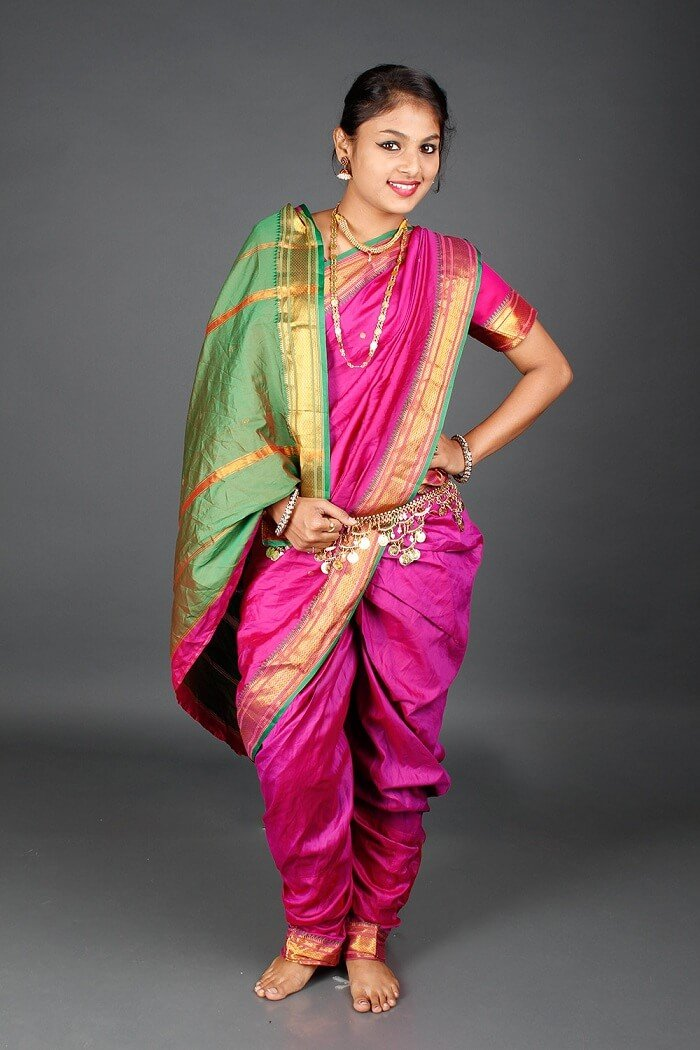 Nauvari Saree from Maharashtra