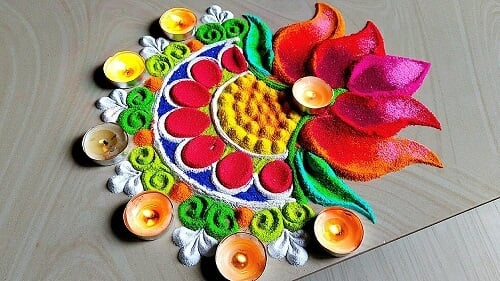 91+ Beautiful Wedding Rangoli Designs Ideas for Your Wedding  Décor That You Mustn't Miss