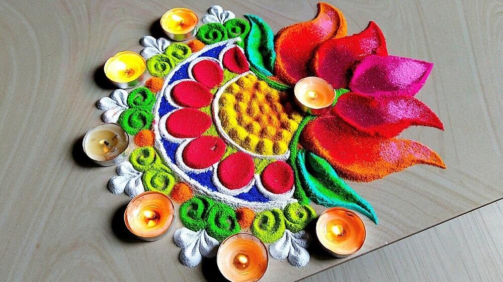 91+ Beautiful Wedding Rangoli Designs Ideas for Your Wedding  Décor That You Mustn't Miss