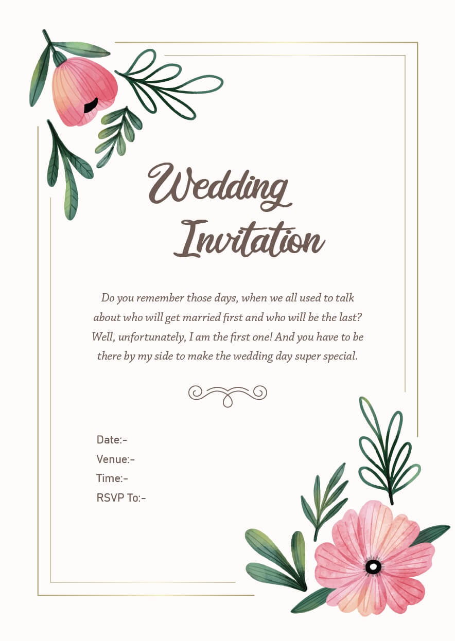 Wedding Invitation Wordings For Friends Invite Quotes Messages