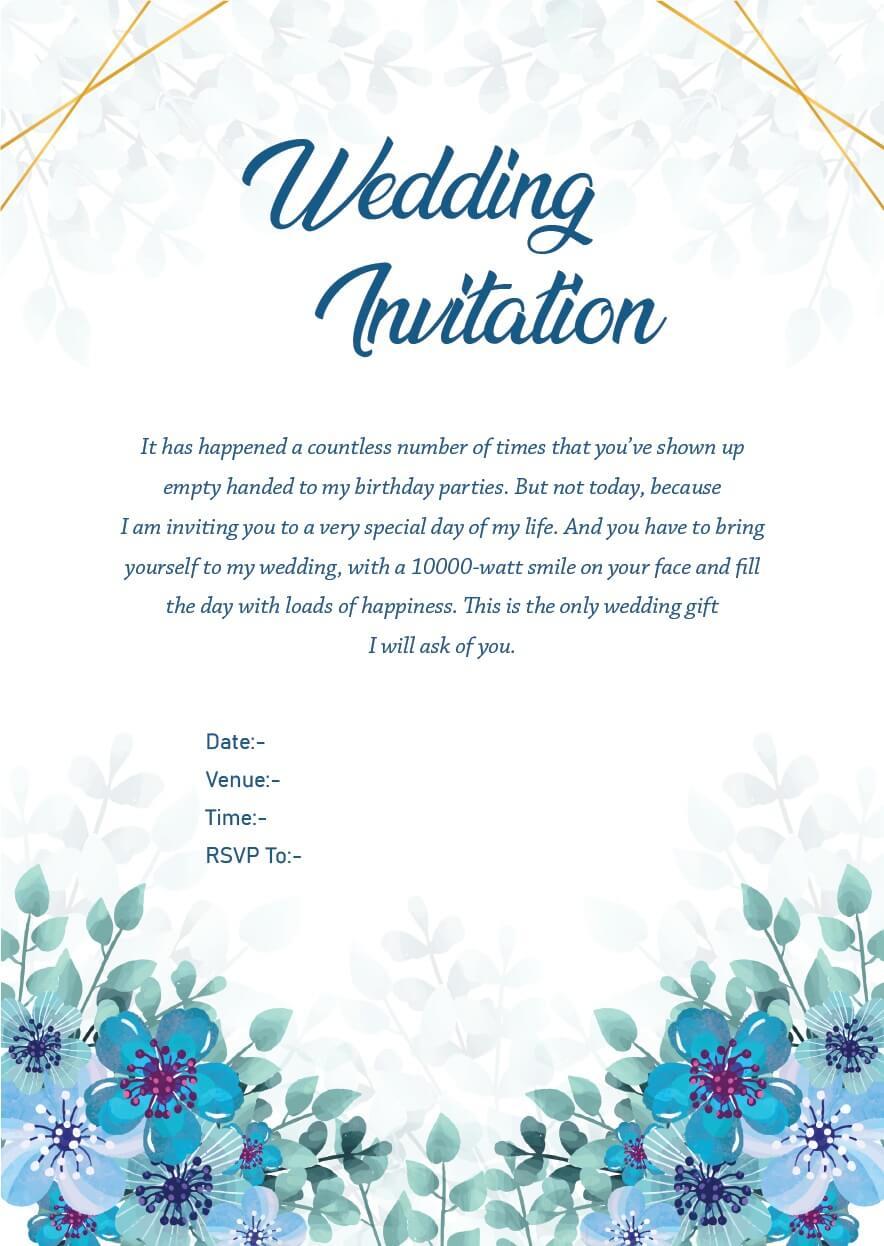 Wedding Invitation Wordings For Friends, Invite Quotes