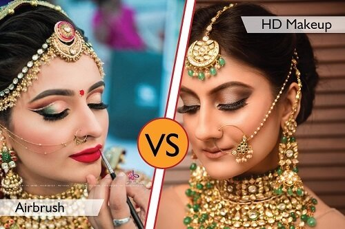 Airbrush vs HD Makeup Compare With 100+ Images? Which O...