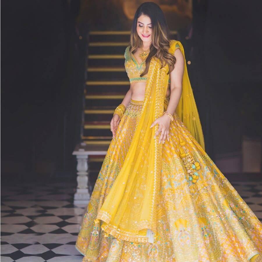 15 Beautiful Haldi Dresses By Popular Designer Anita Dongre