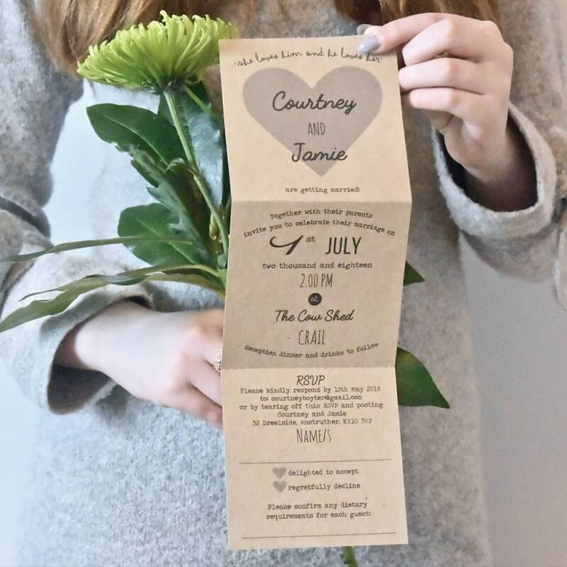 7 Enchanting Rustic Wedding Invitations Template Perfect For A Vintage Wedding