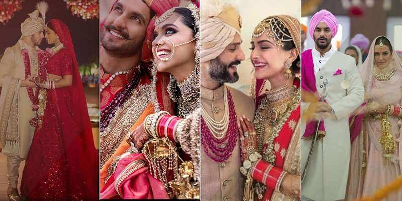 A Brief Round-Up of 2018 Most Famous Indian Celebrities Weddings
