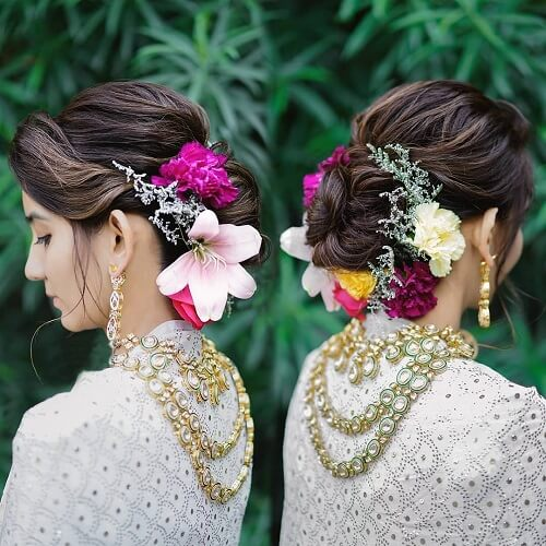 Four Vogue Floral Hairstyles for Brides to Look Gorgeous on the Wedding Day