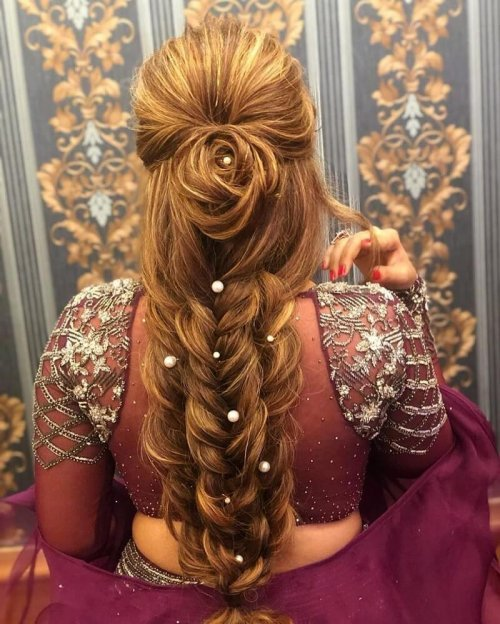 91 Gorgeous Indian Bridal Hairstyles For Short Medium Long Hair
